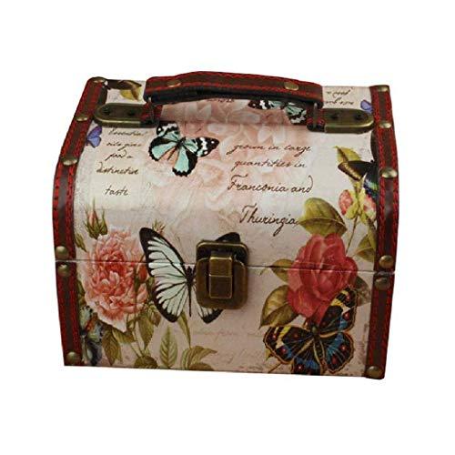 JIAJBG Caja de joyería: sostiene collares, pendientes, anillos, pulseras y más, apertura de estilo bisagra, construcción resistente, duradera y exquisita