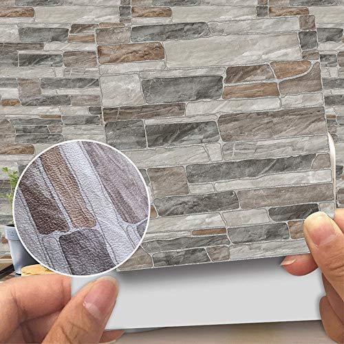 AUNKIER - Pegatinas autoadhesivas de piel sintética para azulejos de pared, impermeables, para decoración de baño o cocina