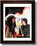 Framed Dustin Hoffman and Robin Williams Autograph Replica Print - Hook