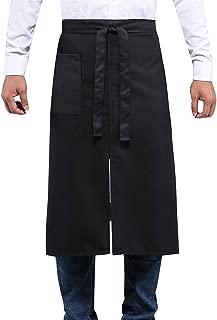 BOHARERS Bistro Apron Black for Women Men - Half Apron with Pocket Unisex Serving Apron for Waiter Waitress Server Restaurant Kitchen Cafe Cotton, 28 Inch