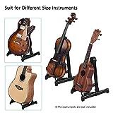 WENHU Professionelle E-Gitarrenständer Universal Klappbass Akustische Elektrische Ständer Notenständer Gitarrenzubehör