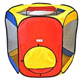 EWONDERWORLD Six Sided Hexagon Twist Play Tent with Ball Stopper &...