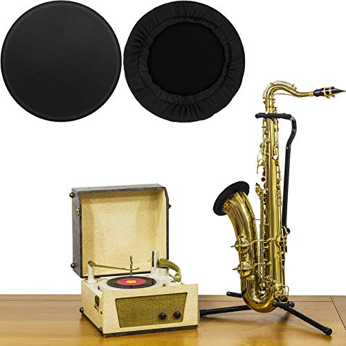 2 Pieces Bell Cover for Trombone Trumpet 5.25-6.75 Inch Reusable Instrument Bell Covers Tenor Alto Saxophone Brass Bell Cover Music Instrument Cleaning and Care Product Cover