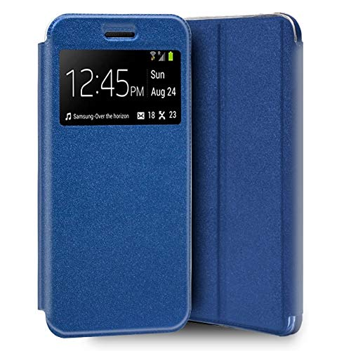 Mb Accesorios Funda Tapa Libro Azul LG K4 2017/K8 2017, con Cierre Magnético