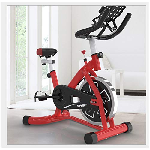 WSJIANP Cardio Workout Indoor Fitness Bike,Adjustable Resistance Spinning Bike,Home Office Sports Fitness Equipment,Exercise Bike Red 91x58x120cm(36x23x47inch)