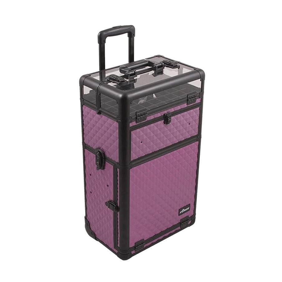Craft Accents I31062 Diamond Trolley Craft/Quilting Storage Case, Purple