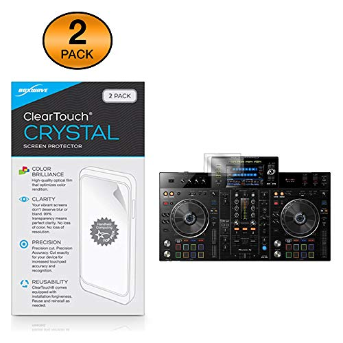 Pioneer XDJ-RX2 Screen Protector, BoxWave [ClearTouch Crystal (2-Pack)] HD Film Skin - Shields from Scratches for Pioneer XDJ-RX2