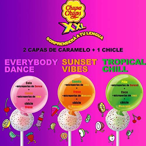 Chupa Chups XXL, Caramelo relleno de Chicle con Palo de Sabores Variados, Rueda de 60 unidades de 29 gr. (Total 1.740 gr.) 1740 g