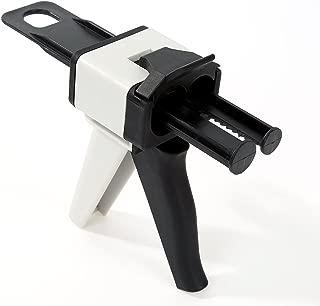 vap26 50ML 1: 1/2: 1 Dispensador de Goma de Silicona Mezclador estático Mezclador de Boquilla transportadora Aplicador de Pistola(50ml,Black+White)