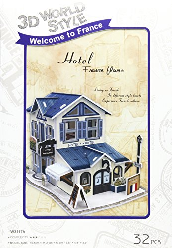 3D three-dimensional puzzle 3D World Style Series Hotel W3117h (japan import)