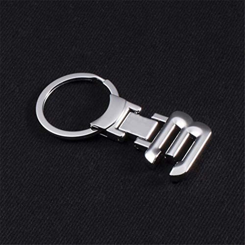 JSJJARF Keychain 3D Metal Car Logo key ring keychain Car Styling gifts (Color Name : White)