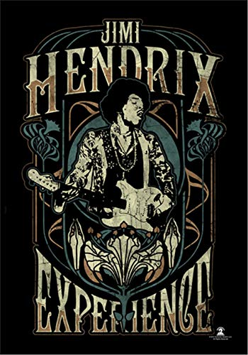 Heart Rock Jimi Hendrix Experience Großes Stoffposter/Flagge, 750 mm x 1100 mm