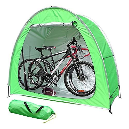 EEUK Guarda Bicis Exterior, Carpa de Cobertizo para Bicicletas con DiseñO de Ventana, Impermeable Resistente A La Intemperie, 200 * 165 * 80 cm(Color:Verde)