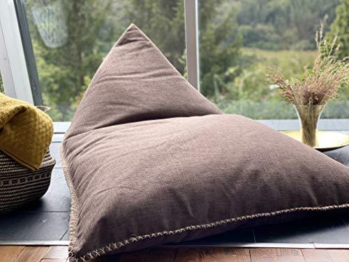 Grafinteriors XXL Sitzsack, Relaxsessel Chillout, Markenware von GI Design (Chocolate - Sofastoff Indoor)
