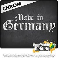 ドイツ製旧ドイツ語 Made in Germany old German 20cm x 7cm 15色 - ネオン+クロム! ステッカービニールオートバイ