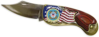 American Coin Treasures Armed Forces Colorized Quarter Pocket Knife Coast Guard