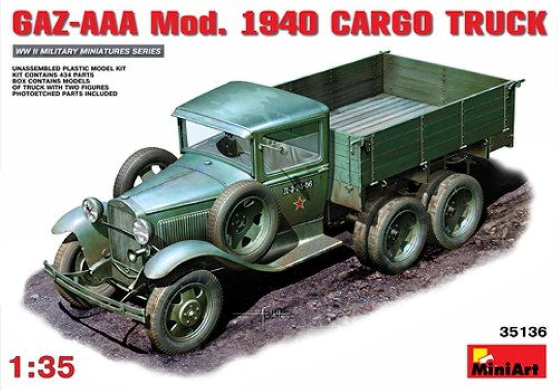 Miniart 1 35 Scale GAZAAA Mod 1940 Cargo Truck Plastic Model Kit