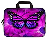iColor Butterfly Neoprene Sleeve Case with Handle for 15-15.6 Inch Laptop(IHB15-005)