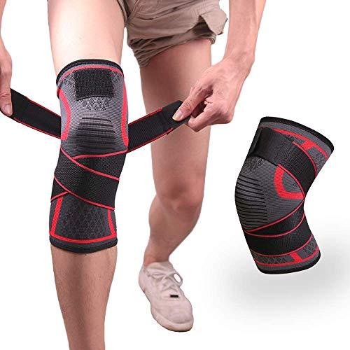 Mein HERZ Kniebandage Sport, Elastische Kniebandage, Kniestütze mit Klettverschluss, Kniestütze für Arthritis ACL und Meniskusriss, Kniebandage entlastet das Kniegelenk und aegen Knieschmerzen - L