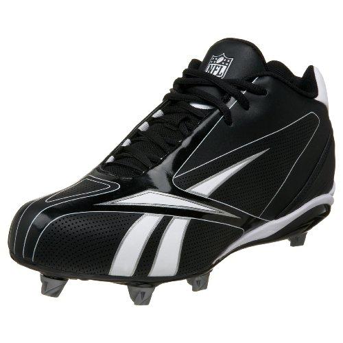Reebok Herren NFL Burner Speed III D Fußball Cleat, Schwarz (schwarz/weiß), 48 EU