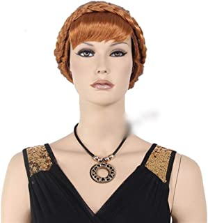 Hairpieces Hairpieces Fashian Women's Long Curly Fancy Dress Wigs Blonde Cosplay Costume Ladies Wig Party for Daily Use and Party (Color : Photo Color)