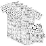 Hospital Patient Gown (4 Pack) Cotton Blend, Useful, Fashionable Patient Gowns, Back Tie, 46