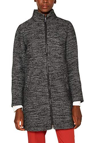 ESPRIT Collection Damen 089EO1G017 Mantel, Schwarz (Black 001), Medium (Herstellergröße: M)