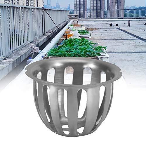 Raguso - Copertura di scarico per scarico del pavimento, forma rotonda, 2 pezzi, 75 mm