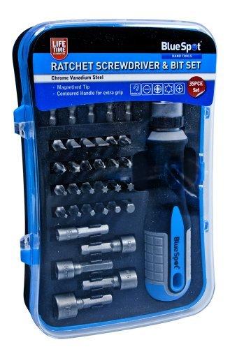 Blue Spot 12618 Ratelschroevendraaier en Bit Set (35 stuks)