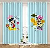 lubenwei Cortinas de Ventana de Minnie Mouse, Hermosa decoración de habitación, Cortinas Opacas para niños y niñas, Regalos 250(H) x140(W) Cmx2 Paneles/Set (B-40)
