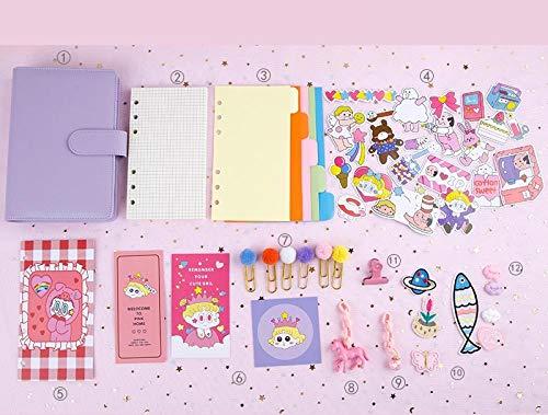 Pocket Dagboek 2020 Hand Boek Handboek Geruit Losbladige Leuke pak Dag Notebook Dagelijkse Planner Dream purple