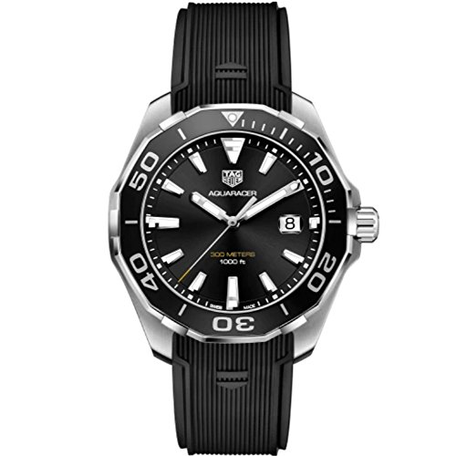 Tag Heuer Aquaracer Black Sunray Dial Mens Watch WAY101A.FT6141
