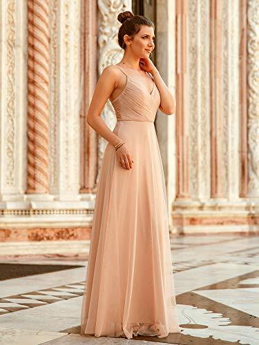 Alisapan Sleeveless Elegant Long Wedding Party Juniors Bridesmaid Dresses Blush Us 14,Wedding Dress For Mother And Daughter