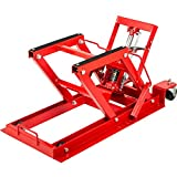 VEVOR Hydraulic Motorcycle Scissor Jack with 1,500LBS Load Capacity, Motorcycle/ATV Jack Hoist Stand Portable Lift Table, Adjustable Motorcycle Lift Jack,with Built-In Lock Pin (Red)