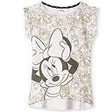 Disney Camiseta de algodón original de Minnie & Mickey Mouse para mujer, adolescentes, tallas S-XL