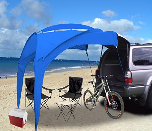 Eurow Tail Gator Sunshade Portable Shade, Blue