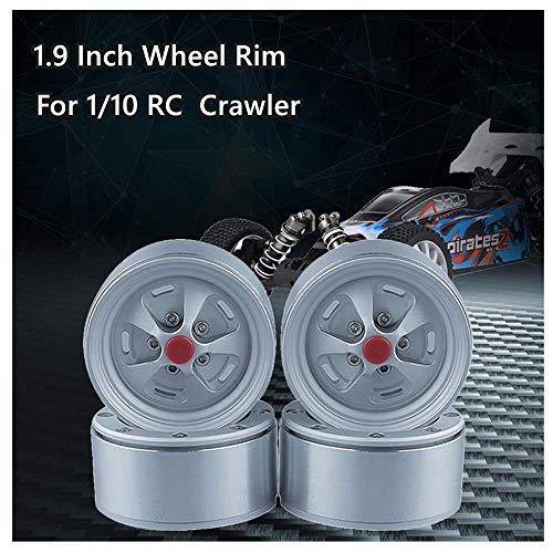 Best Deals! HHoo88 4Pcs Metal Alloy 1.9 Inch Wheel Rim for TRX-4 SCX10 D90 90046 KM2 1/10 RC Car, Of...