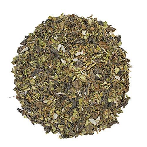 Molienda Sagrada, Té Verde Menta / Infusión de Té Verde en hoja con Menta y Hierbabuena , 250 g
