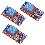 WayinTop 3 Stücke 1 Kanal 5V Relais Modul Shield High/Low Level Trigger mit Optokoppler für Arduino Raspberry Pi PIC AVR DSP ARM