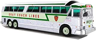 1970 MCI MC-7 Challenger Motorcoach Gray Coach Lines Destination: Ottawa (Canada) Green & Silver 1/87 (HO) Diecast Model Iconic Replicas 87-0186