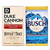 Duke Cannon Supply Co. Big Brick of Soap for Men, 10oz, 2 Bar Soap Set - Busch Beer Soap, Sandalwood Scent and Bourbon Soap, Oak Barrel Scent, Made With Buffalo Trace
