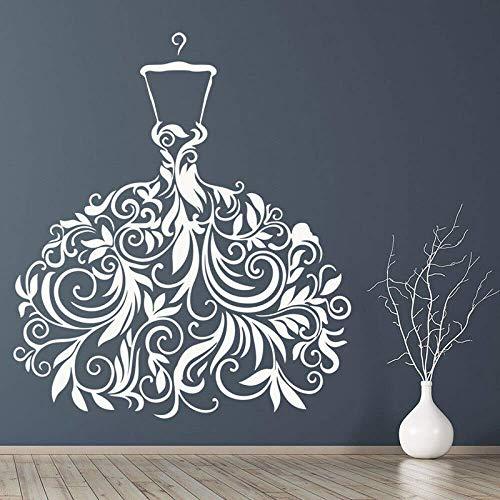 57X65Cm Brautkleid Hochzeitskleid Wandaufkleber Vinyl Braut Schaufenster Aufkleber Abnehmbare Wohnkultur Indoor Party Wandbild Tapete
