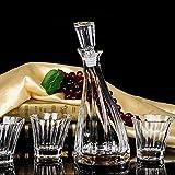 juegos de vasos de whisky de regalo para hombres, hechos de vidrio 100% sin plomo, 1 botella de vino y 6 vasos