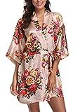 Floral Satin Kimono Robes for Women...