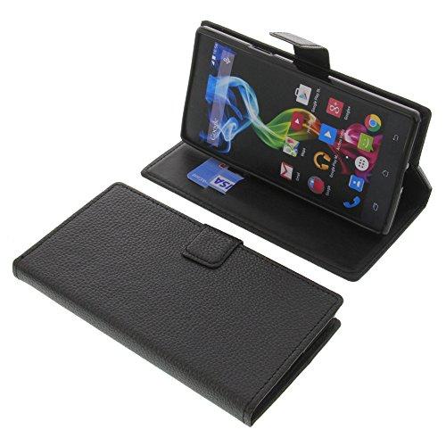foto-kontor Tasche für Archos 55 Platinum Book Style schwarz Schutz Hülle Buch