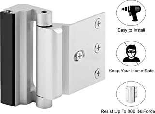 Home Security Door Lock with 8 Screws, Childproof Door Reinforcement Lock with 3