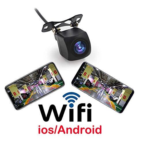 L-CAM Cámara de Marcha atrás inalámbrica Cámara de Repuesto para el Coche WiFi Transmisor de Video en Tiempo Real Tamaño Mini Visión Nocturna Impermeable para iPhone/iPad y Android