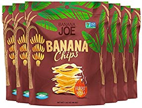"""BBQ Flavored Chips , Gluten-Free Healthy Snacks for Adults & Kids – Vegan & Paleo Approved – A """"Potato Chip"""" That's Good For You (Made From 100% Real Banana) (Hickory BBQ, 6)"""