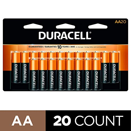 Subscribe And Save Deal – Duracell – CopperTop AA Alkaline Batteries – long lasting, all-purpose Double A battery for household and business – 20 Count.