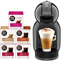 Nescafe Dolce Mini Me Coffee Machine (with 5 Capsule Boxes), Black, Nescafe Dolce Gusto